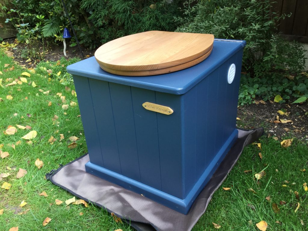Eco-Loo Cottage Divert 20 compost toilet in blue